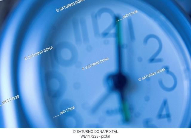 blurred alarm clock