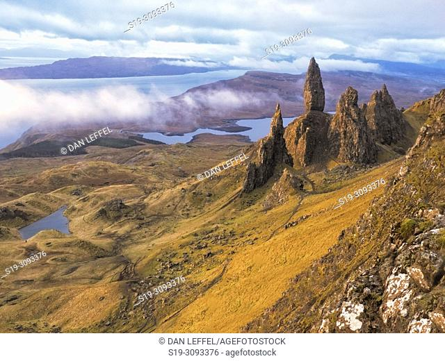 Scotland Isle of Skye Old Man of Storr Area