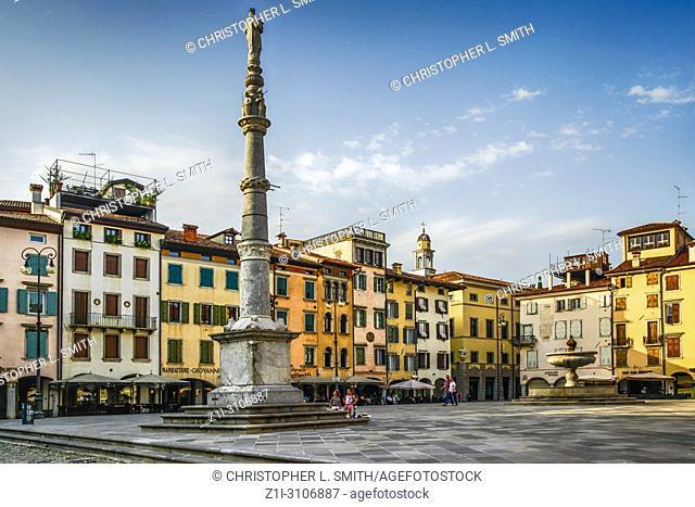 Piazza San Giacomo in Udine, Italy