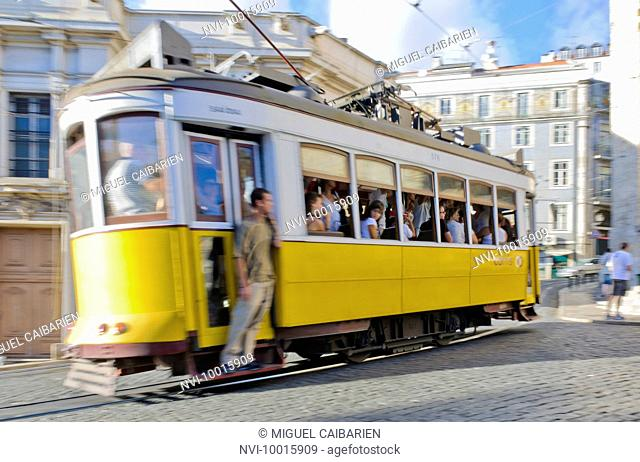 Tram, Lisbon, Portugal, Europe