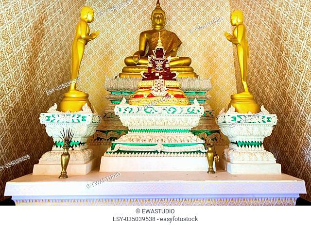 golden buddha. Thailand