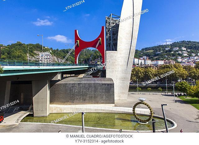 Puente de la Salve. Bilbao, Biscay, Basque Country, Spain