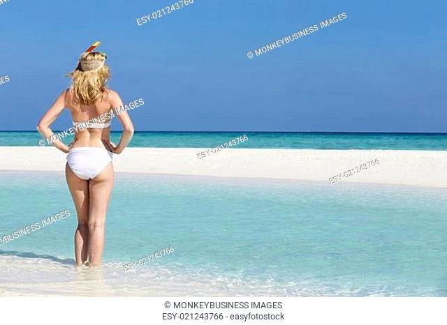 Woman Enjoying Beach Holiday