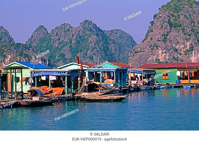 Village of fishermen,Halong Bay,Vietnam