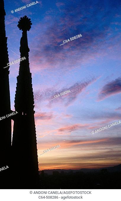Sagrada Familia towers, Barcelona. Catalonia, Spain