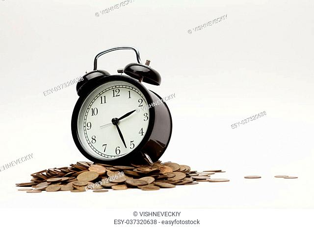 Office Clock and money. Time is money concept