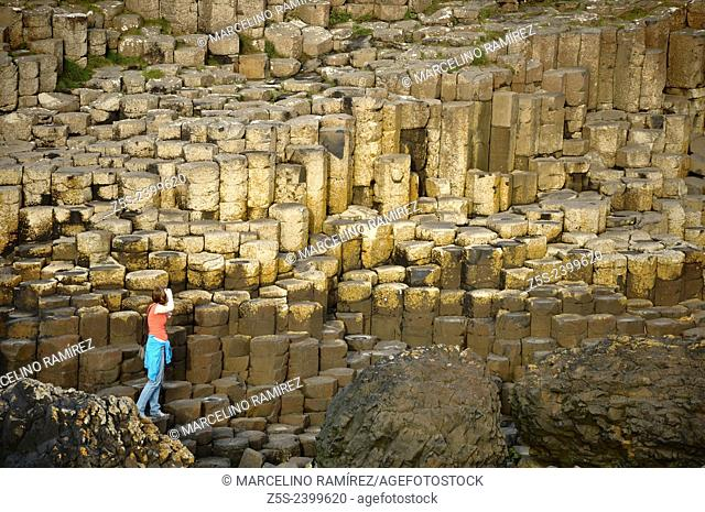 The Giant's Causeway, located in County Antrim on the northeast coast of Northern Ireland