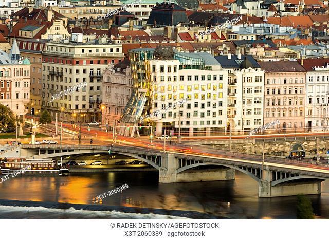 modern architecture, Dancing House, New town, Prague, Czech Republic