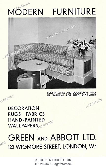 'Modern Furniture - Green and Abbott Ltd.', 1933. Artist: Unknown
