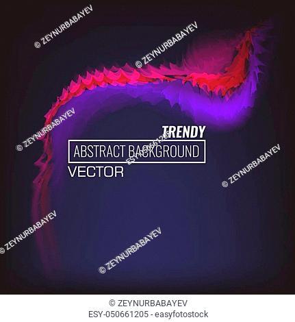 Trendy Liquid color background design. Fluid gradient composition. Futuristic design poster background. Illustrated vector