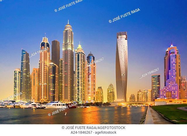 United Arab Emirates UAE , Dubai City ,Dubai Marina Skyline