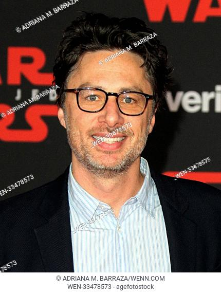 'Star Wars: The Last Jedi' - Premiere held at the Shrine Auditorium in Los Angeles Featuring: Zach Braff Where: Los Angeles, California