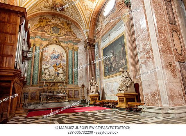 Basilica of St. Mary of the Angels and the Martyrs is a titular basilica church in Rome, built inside the frigidarium of the Baths of Diocletian in the Piazza...