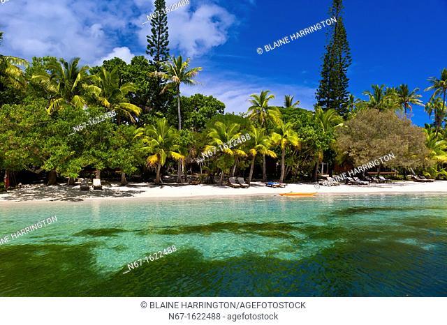 Oure Tera Beach Resort, Bay of Kanumera, Ile des Pins Isle of Pines, New Caledonia
