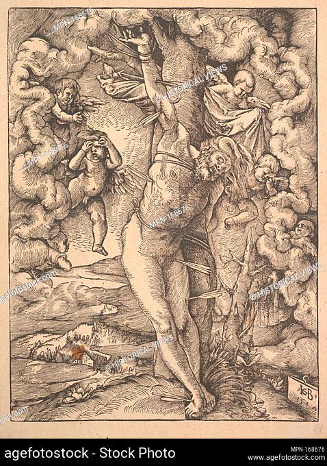 St. Sebastian Bound to a Tree. Artist: Hans Baldung (called Hans Baldung Grien) (German, Schwäbisch Gmünd (?) 1484/85-1545 Strasbourg (Strassburg)); Date: 1514;...