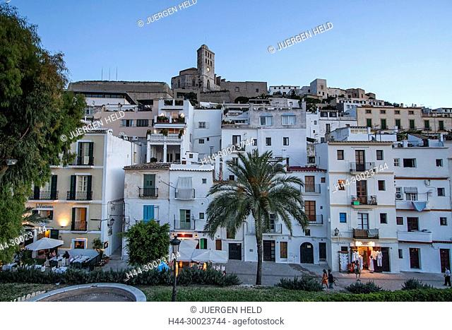 Dalt vila, old town Ibiza town, Ibiza, Spain