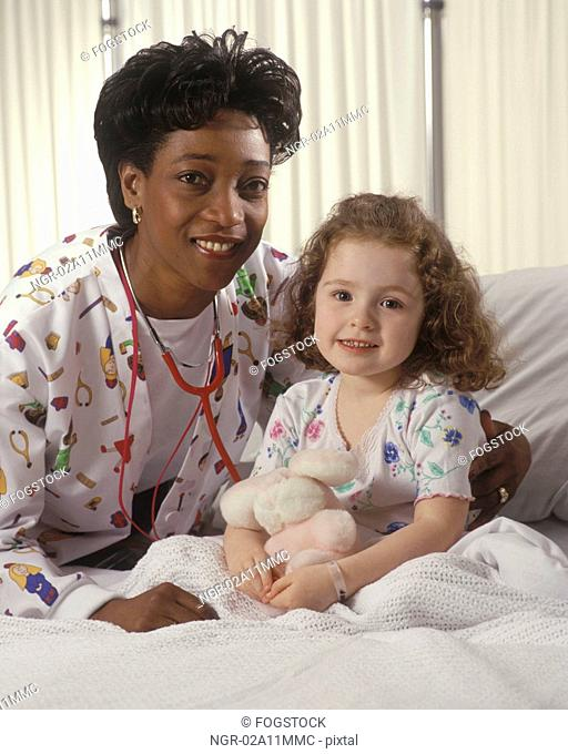 Doctor with Little Girl Patient