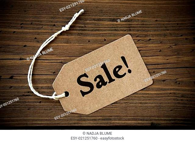 Close Up Of Label With Text Sale