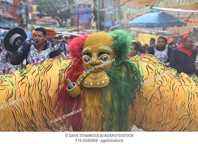 Masked dancer at the Gran Poder Festival, La Paz, Bolivia