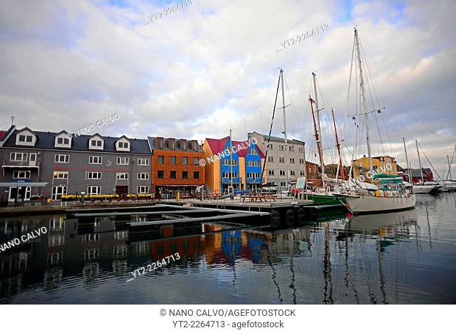 Port of Tórshavn, capital of The Faroe Islands