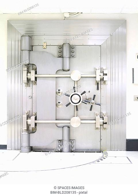 Closed Bank Vault Door
