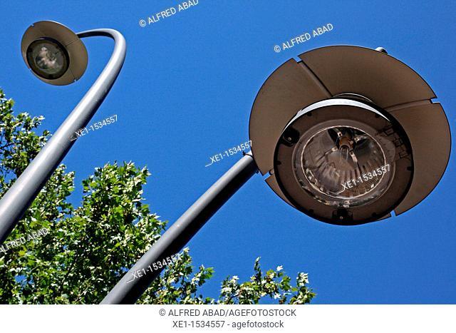 streetlights, Madrid, Spain