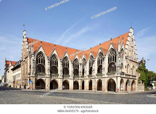 Germany, Lower Saxony, Brunswick, Old Town city hall on the Altstadtmarkt