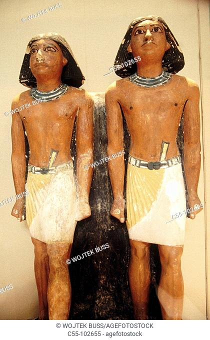 Nimaatsed statues (5th dynasty). Cairo Museum. Egypt