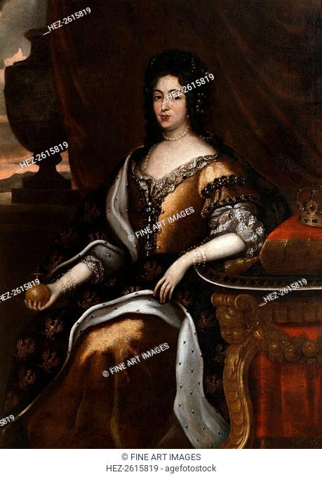 Portrait of Queen Marie Casimire. Artist: Tricius, Jan (ca 1620-ca 1692)