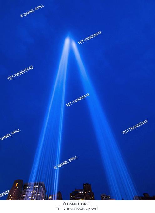 World Trade Center Tribute lights