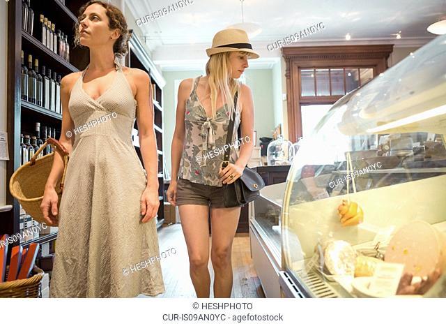 Two women browsing in organic grocery