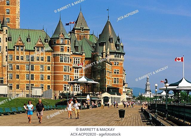 Dufferin Terrace, Le Chateau Frontenac, Quebec City, Quebec, Canada