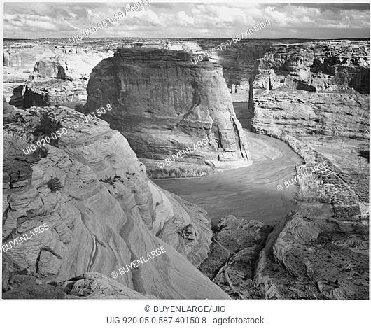 View of valley from mountain Canyon de Chelly National Monument Arizona. 1933 - 1942