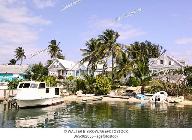 Bahamas, Abacos, 'Loyalist Cays , Elbow Cay', Elbow Cay, Hope Town: Town View