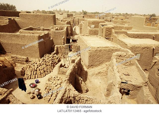 The house of Djenne are built from mud. The advantage of using mud to build is that it is cheap and easy to find. The houses are cool inside even though outside...