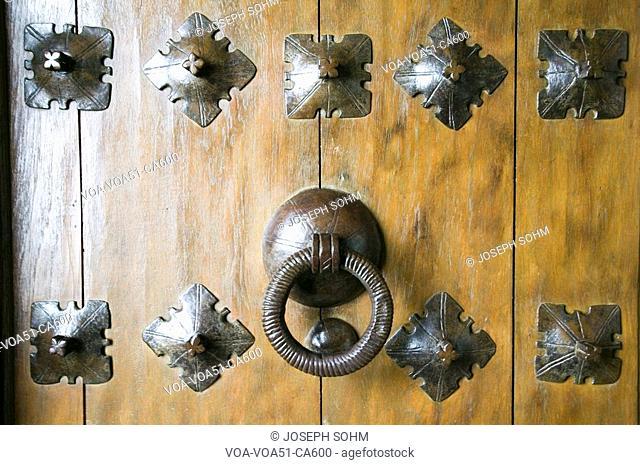 Door knocker at Hearst Castle, San Simeon, Central California Coast