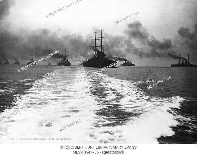 Ships of the Austro-Hungarian fleet at sea during the First World War