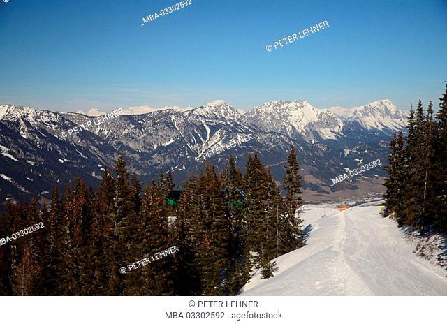 Austria, Styria, Schladming, ski region, Planai, scenery