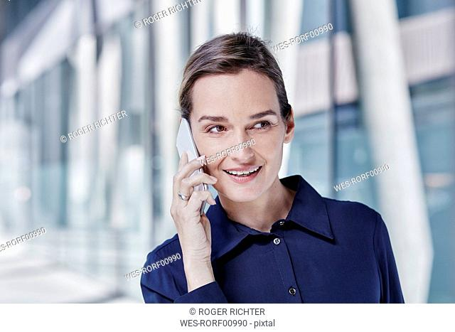 Portrait of businesswoman on the phone