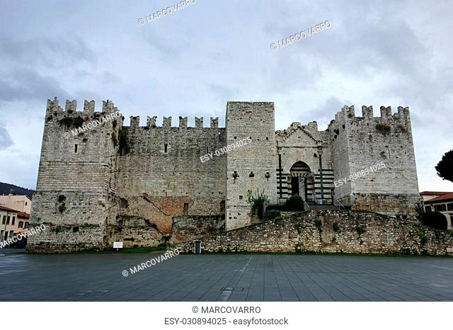 The Emperor's Castle, aka Fortress of S.Barbara or Castello Svevo,medieval Landmark in Prato, Italy