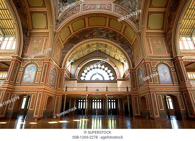 Low angle view of interior of a building, Royal Exhibition Building, Melbourne, Australia