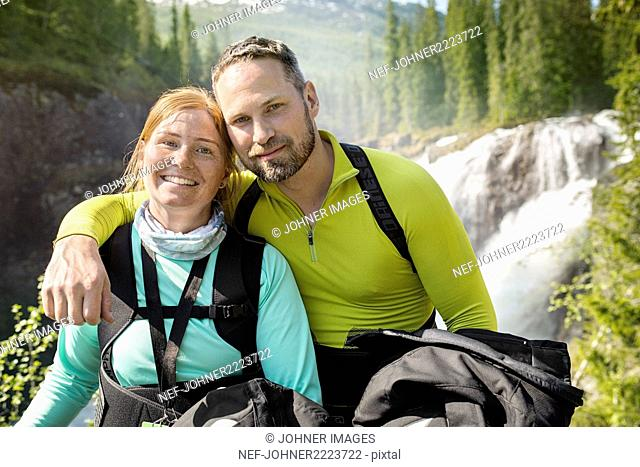 Portrait of smiling hikers