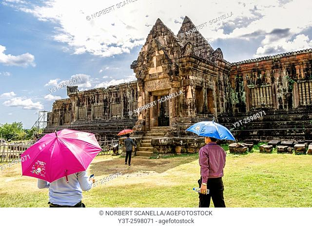 Asia. South-East Asia. Laos. Province of Champassak. Tourists at Wat Phou