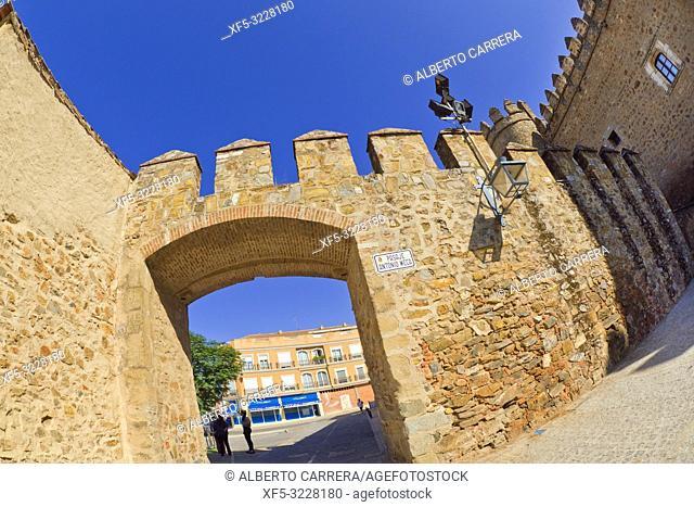 Pasaje Antonio Meca, Palacio de los Duques de Feria Wall, Zafra, Badajoz, Extremadura, Spain, Europe