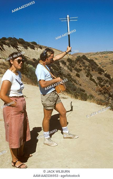 Biologist Radio-tracking California Condor Kern County, California