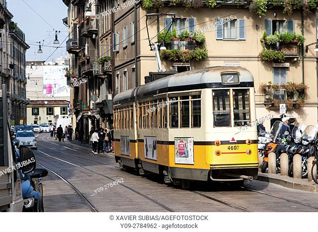 Via Ponte Vetero, Milan, Lombardy, Italy