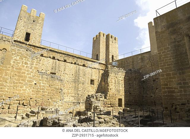 Castle in Sadaba Zaragoza Aragon Spain