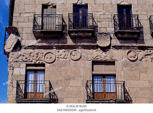 Marquis of Cerralbo building, Ciudad Rodrigo, Castile and Leon. Detail. Spain, 16th century