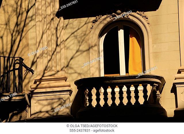 Balcony and window detail. Barcelona, Catalonia, Spain