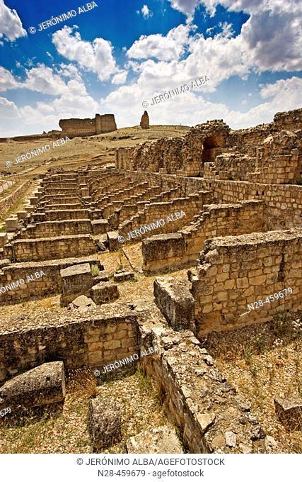 Nymphaeum, Roman ruins of Valeria. Cuenca province, Castilla-La Mancha, Spain